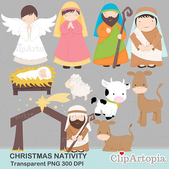 Christmas Nativity Cute Christmas Digital Clipart By Clipartopia  5
