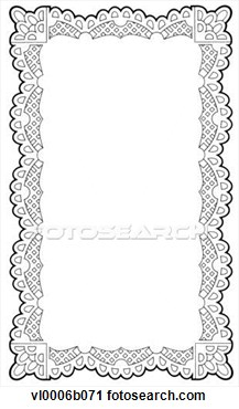 Clip Art Lace Border Clip Art lace border clipart kid doily frame fotosearch search illustration