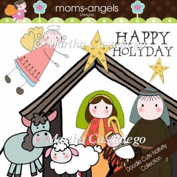 Cute Nativity Clipart Doodle Cute Nativity