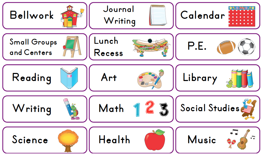 Daily Class Schedule Clipart I Am Sharing Today My Schedule