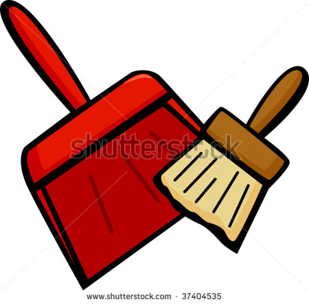 Dustpan And Sweeping Brush   Stock Vector