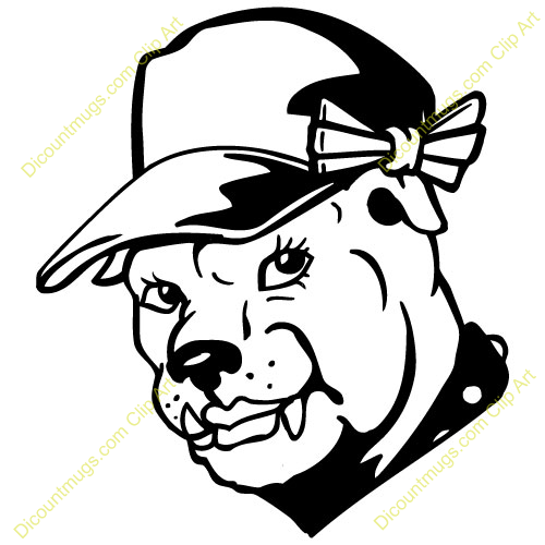 Bulldog Mascot Clipart - Synkee