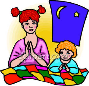 Mother Praying Clipart - Clipart Kid
