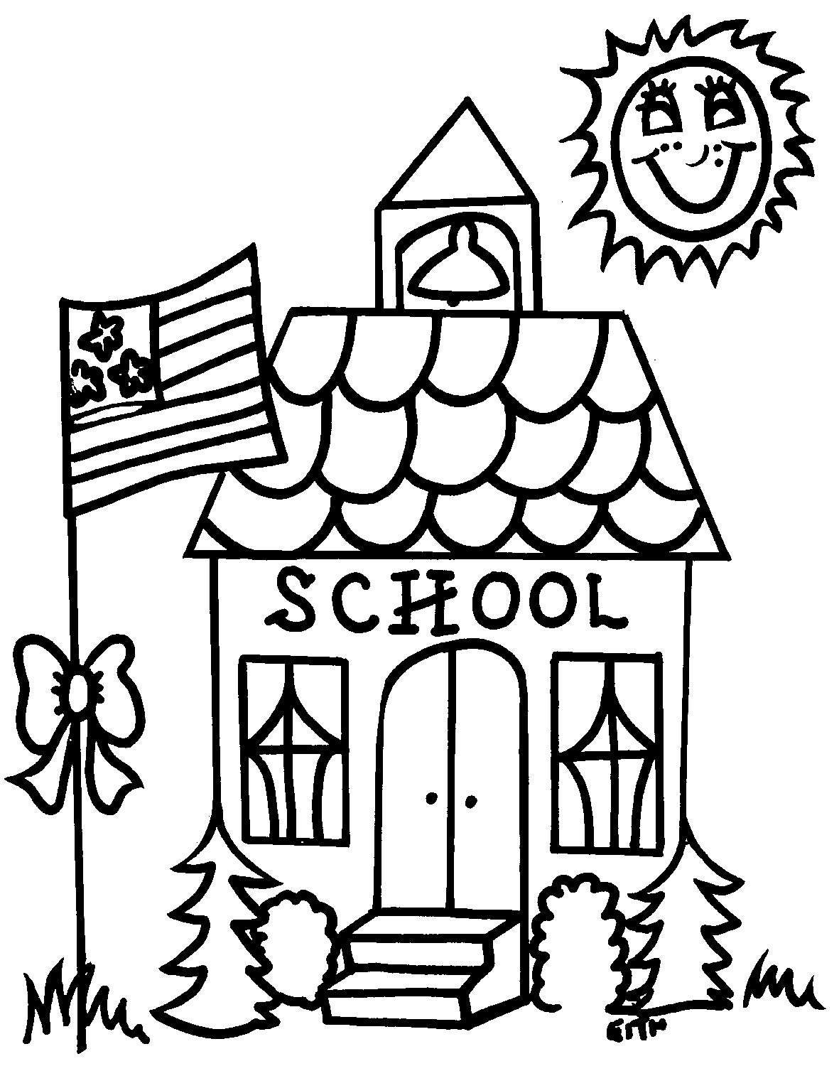 School House Outline   Cliparts Co