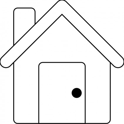 Schoolhouse Outline House Outline Free Vector For