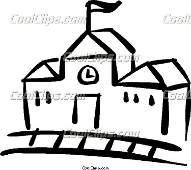 Schoolhouse Outline School House Md Image Vector