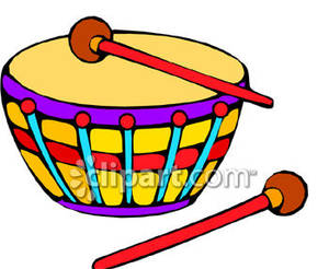 Toy Drum   Royalty Free Clipart Picture