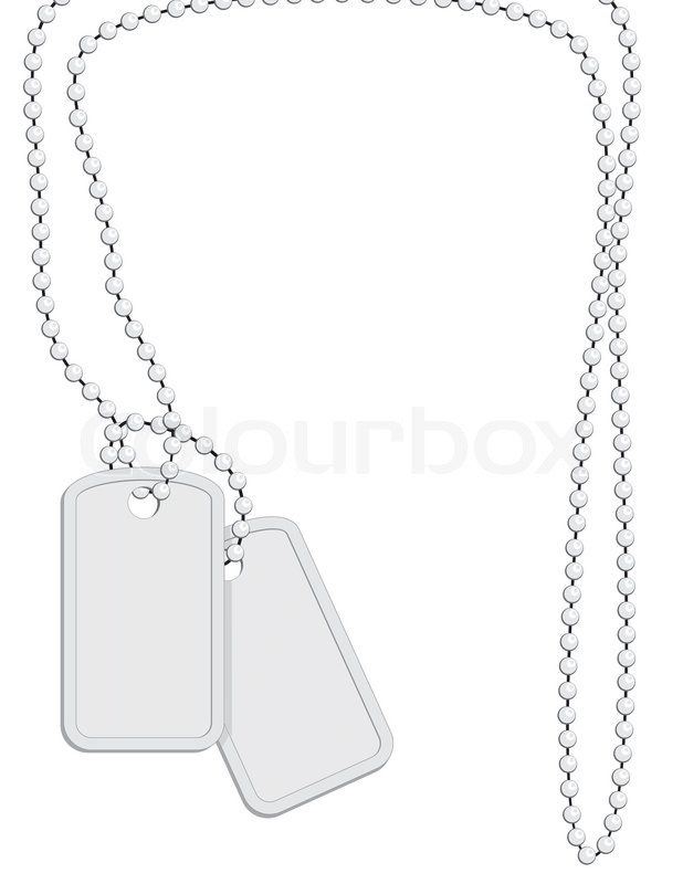 476257 Military Identity Tag Dog Tag Identity Plate With Metal Chain