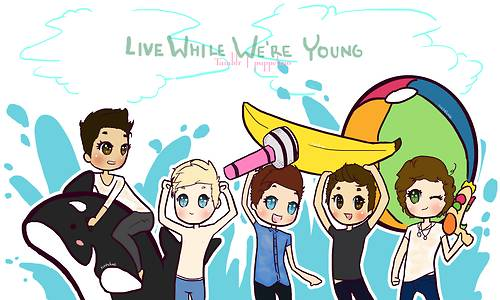 Cartoon Of Lwwy   One Direction Picture
