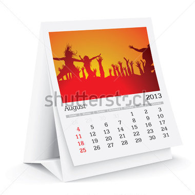 Download Source File Browse   Abstract   August 2013 Desk Calendar