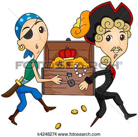 Drawing   Treasure Chest  Fotosearch   Search Clip Art Illustrations