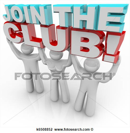 Join The Club   Membership Recruitment Team K6508852   Search Clipart