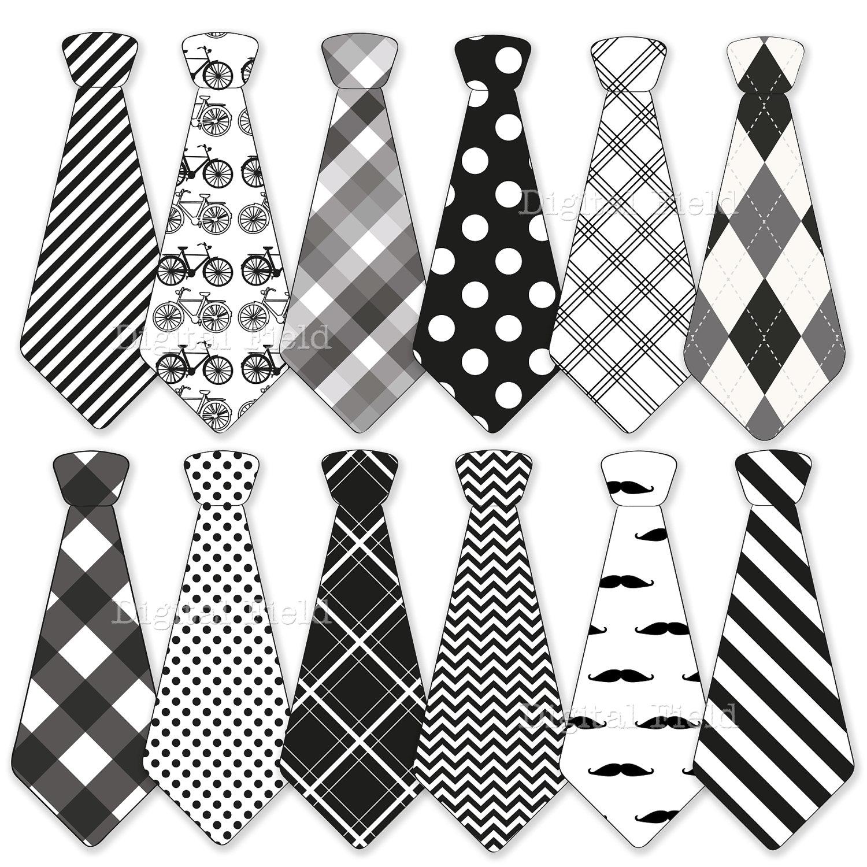 Necktie Clip Art Set Tie Clip Art Printable By Digitalfield