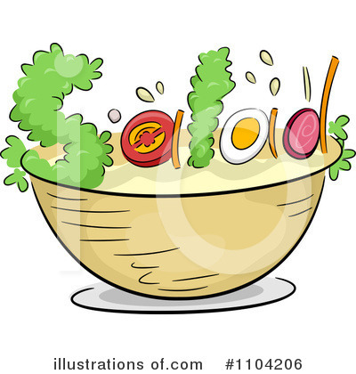 Salad Clipart  1104206 By Bnp Design Studio   Royalty Free  Rf  Stock