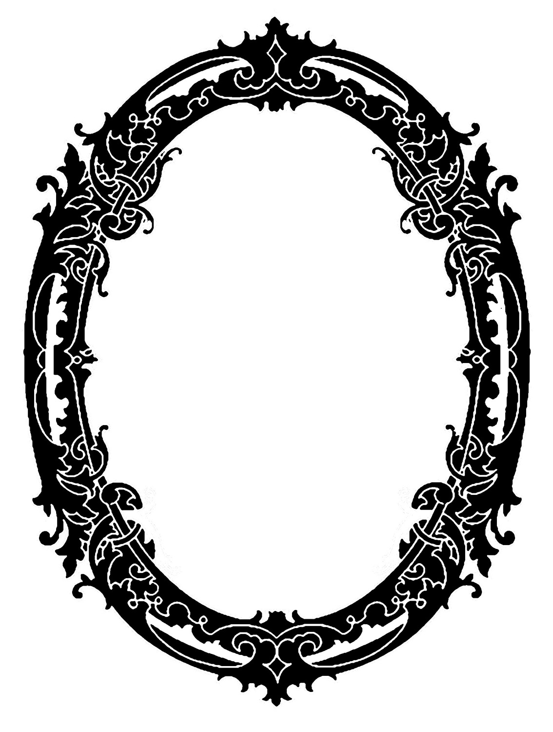Clip Art   Stunning Silhouette Frames   Christmas   The Graphics Fairy