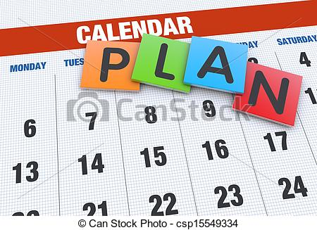Event Planning Clipart Calendar Planning Concept