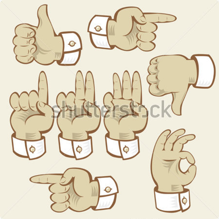 Hand Gestures Of Voting Counting And Vector Clip Arts   Clipartlogo