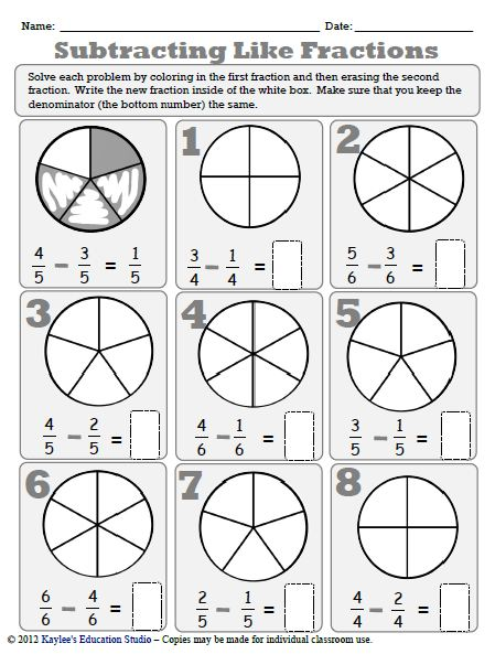 Number Names Worksheets fractions with different denominators worksheet : Adding And Subtracting Fractions Games With Unlike Denominators ...