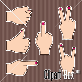 Related Hand Gestures Cliparts