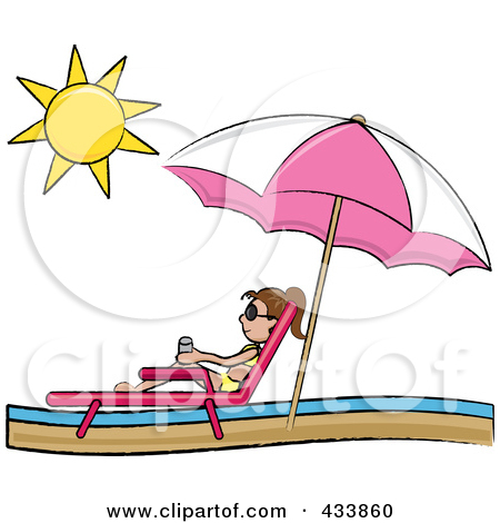 Royalty Free  Rf  Sun Tanning Clipart Illustrations Vector Graphics