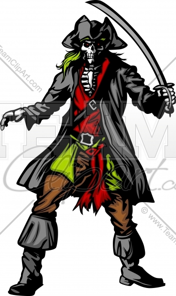 how to draw a skelaton pirate for kids