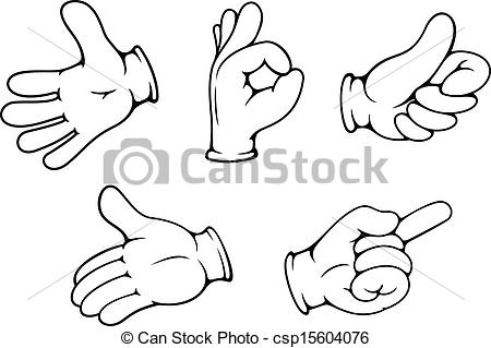 Vector   People Hand Gestures   Stock Illustration Royalty Free