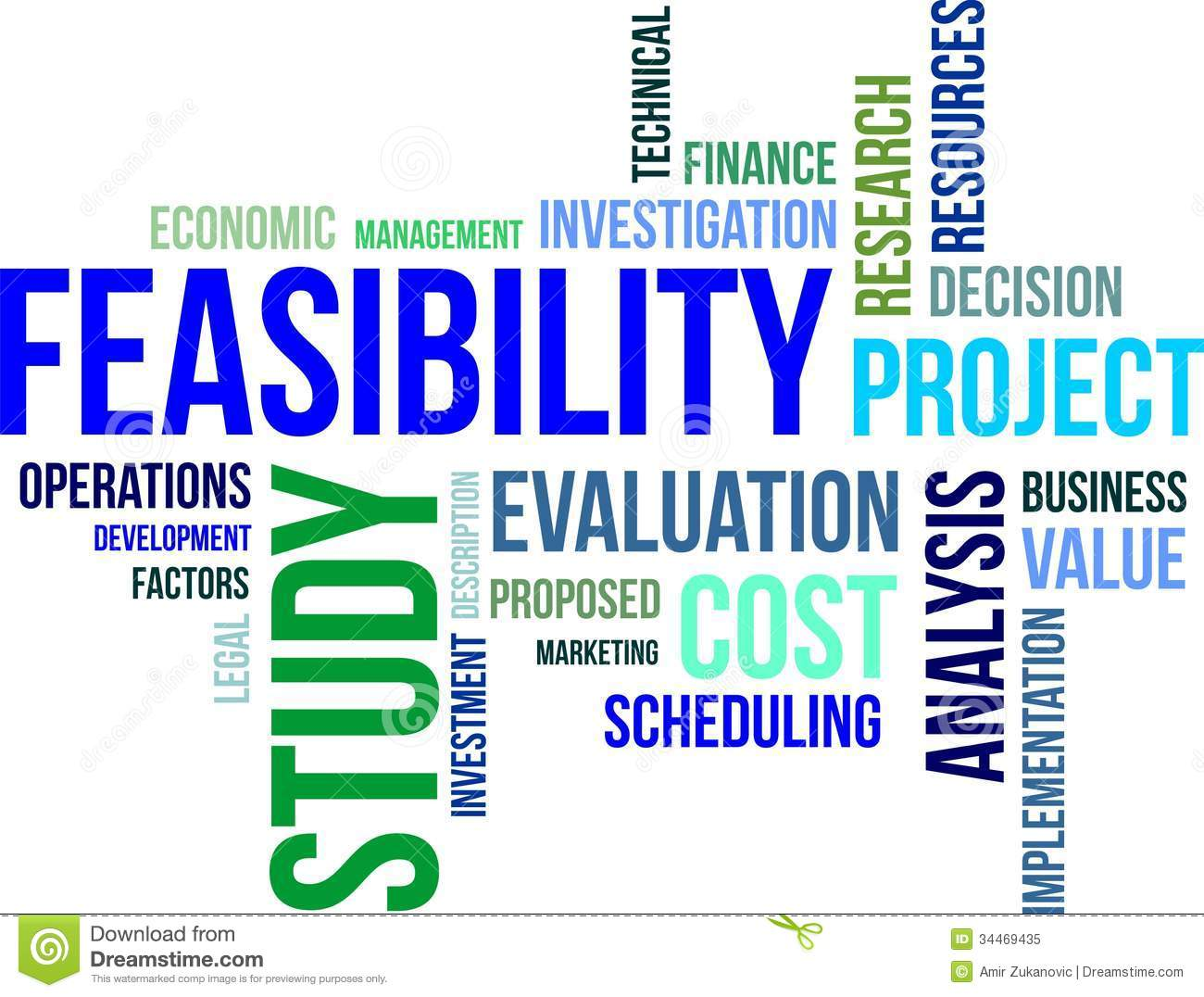 Word Cloud   Feasibility Study Royalty Free Stock Photo   Image