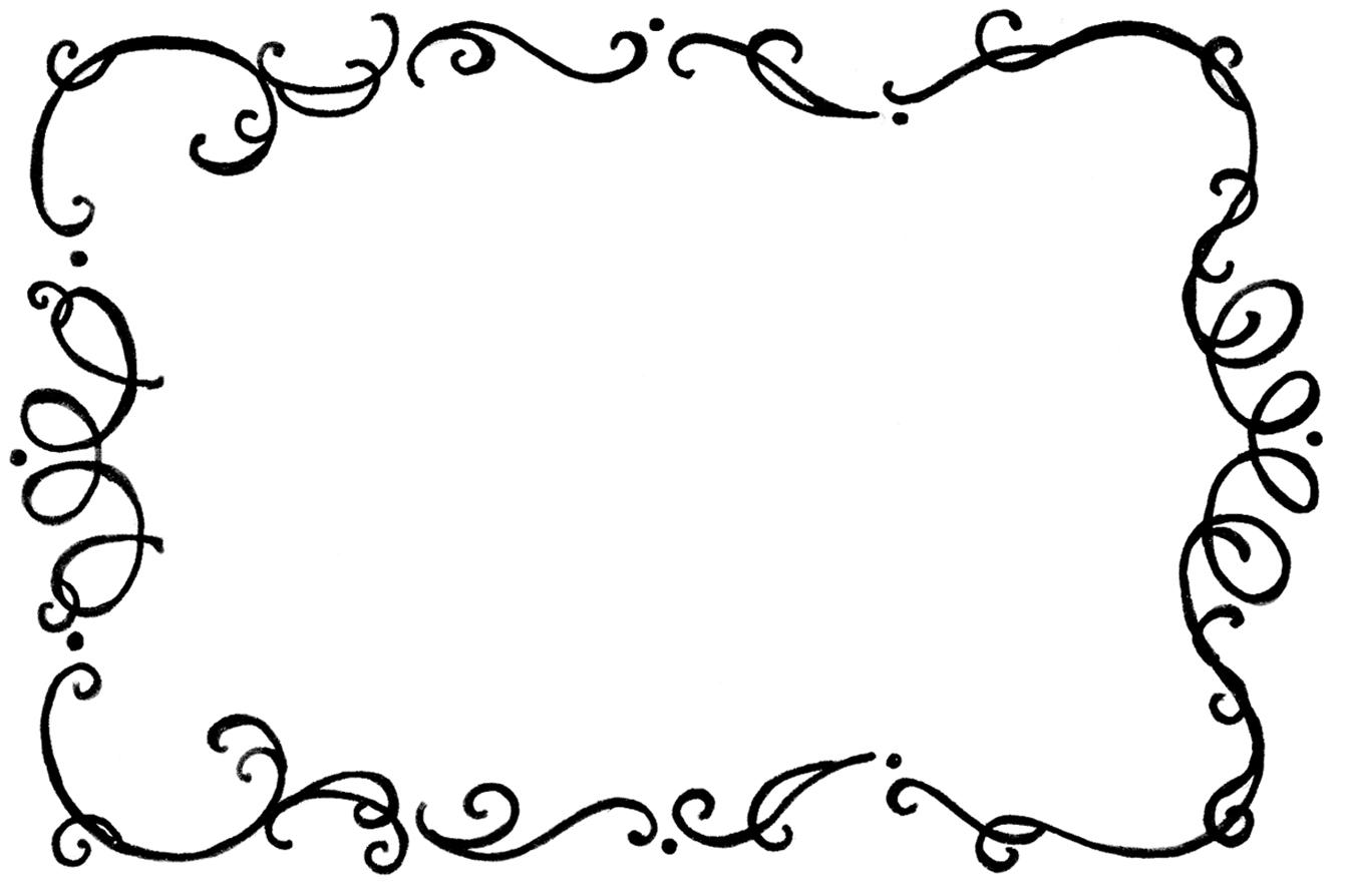 8980 Flourish Frame Rubber Clipart Panda Free Clipart Images