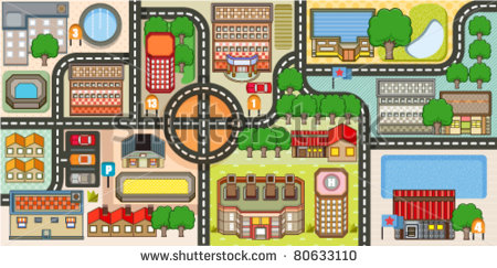 City Community Clipart City Map   Stock Vector