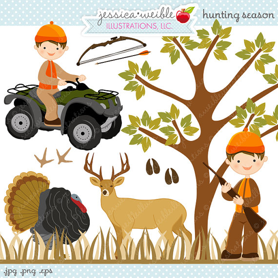 Clipart   Commercial Use Ok   Little Hunting Boy Atv 4 Wheeler