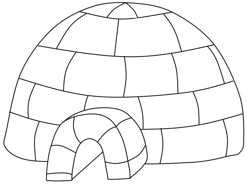 Igloo Outline Clipart - Clipart Suggest