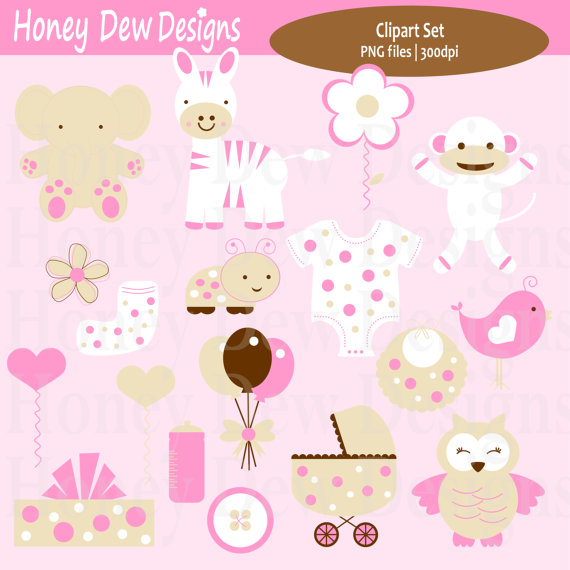 Instant Download   Clipart Package 167   Baby Girl Clipart