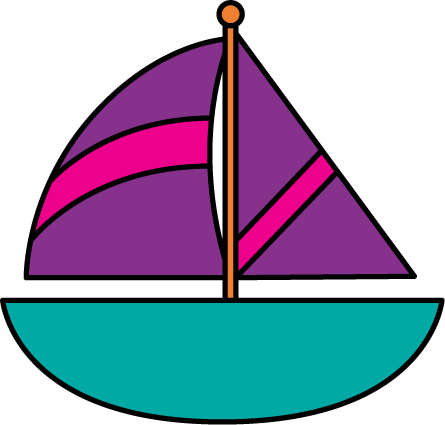 Pink Boat Clipart - Clipart Kid