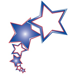Red White And Blue Stars Clipart - Clipart Kid