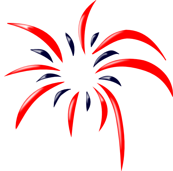 Red White And Blue Fireworks Clipart   Clipart Panda   Free Clipart