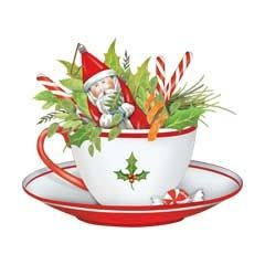 Christmas Tea Cup Clipart - Clipart Suggest