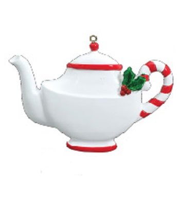 Teapot Personalized Christmas Ornament