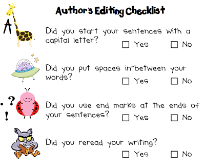 The Teacher Diaries  Our New Author S Editing Checklist