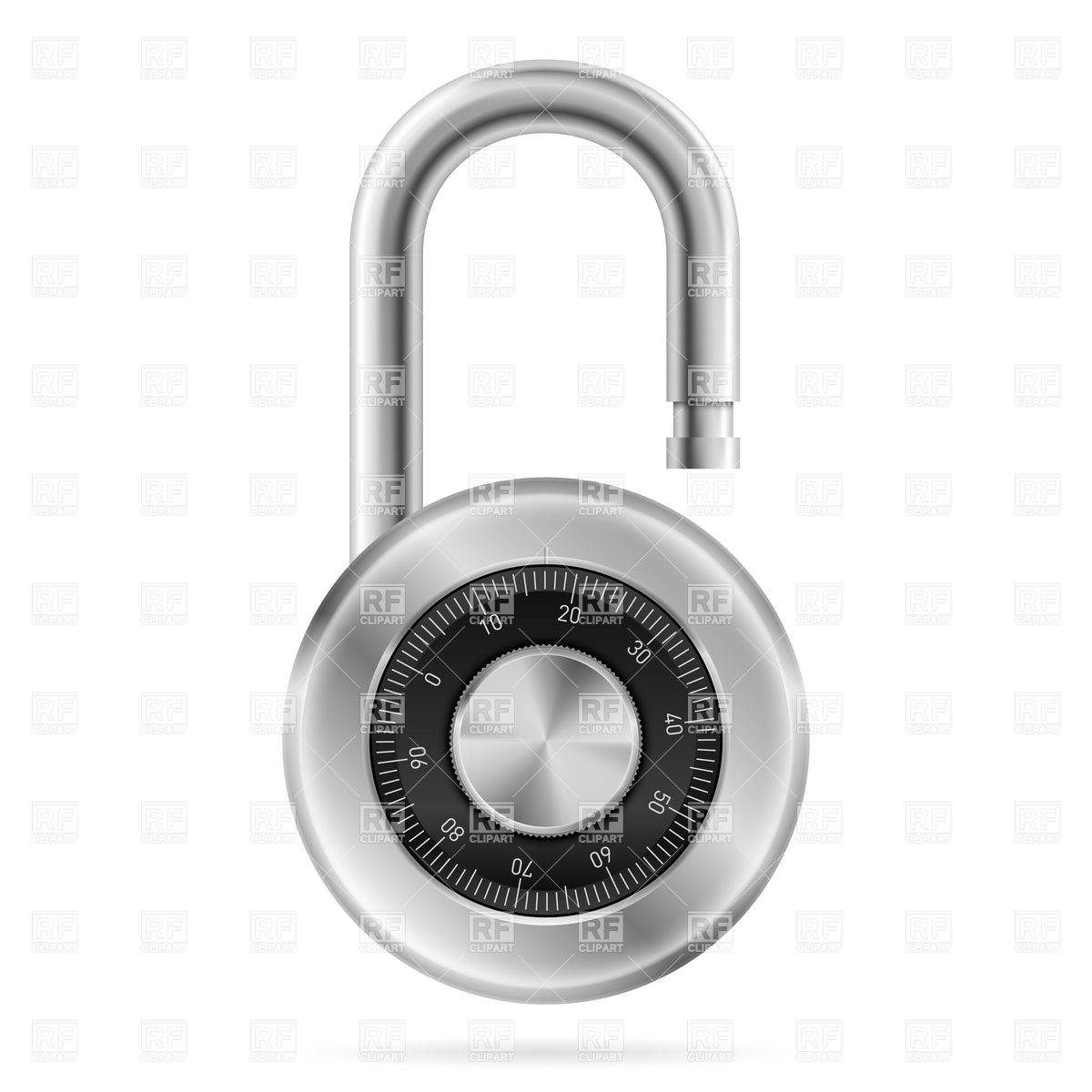 Unlocked Combination Lock Download Royalty Free Vector Clipart  Eps