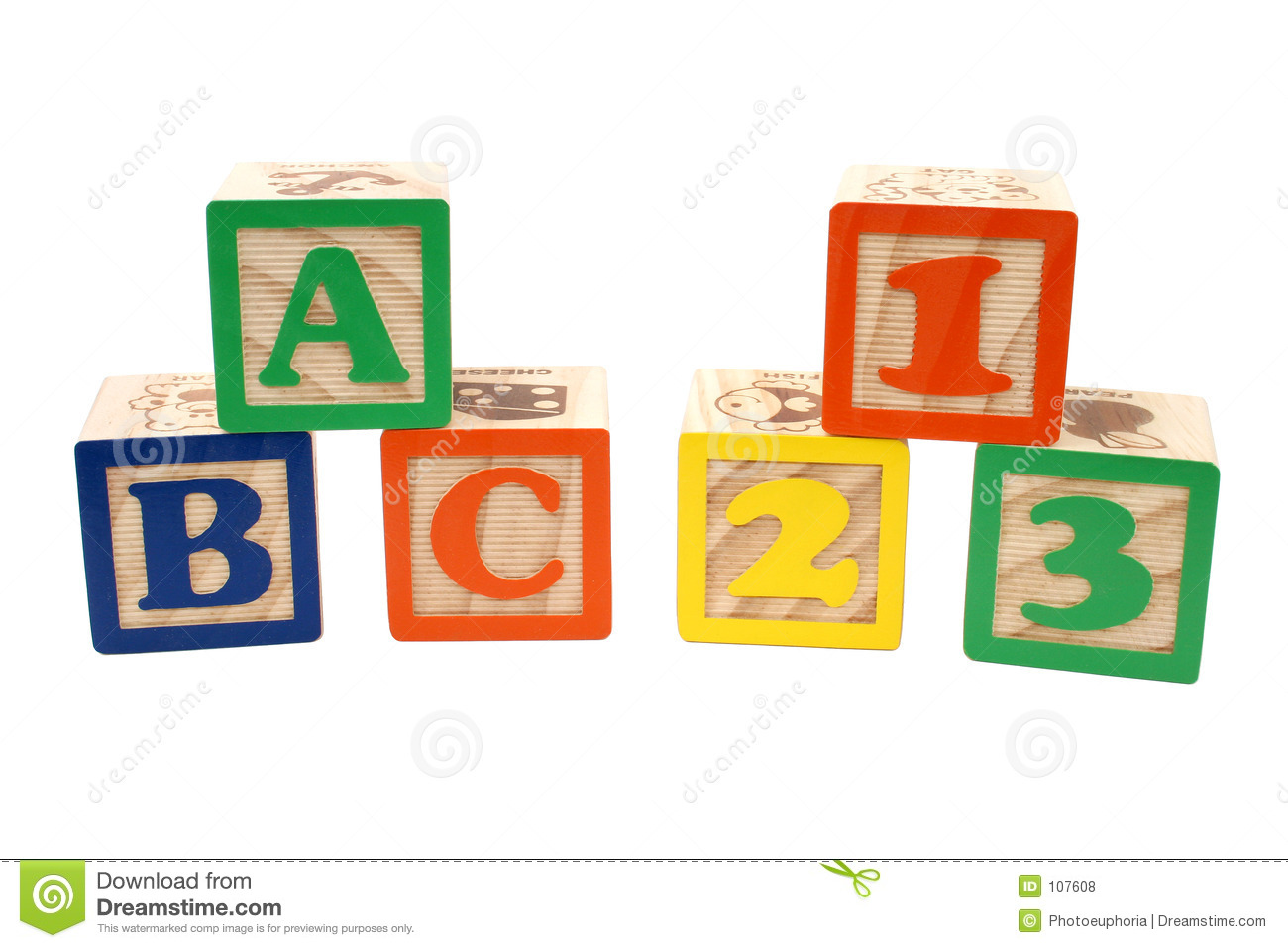 Abc 123 Clipart Abc 123 Blocks