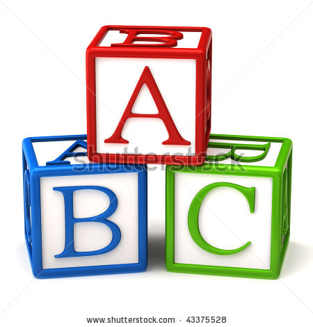 Abc Blocks Clipart Black And White Stock Photo  Abc Blocks 43375528