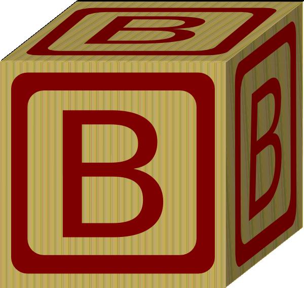 Alphabet Block B Clip Art At Clker Com   Vector Clip Art Online