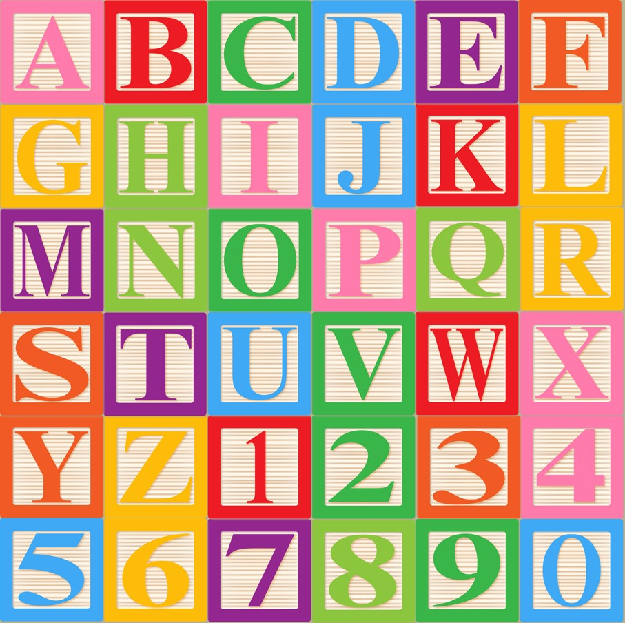 Baby Blocks Alphabet Font Clip Art Clipart By Pinkpueblo On Etsy
