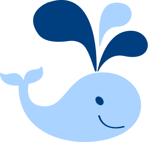 baby shower whale clipart - photo #2