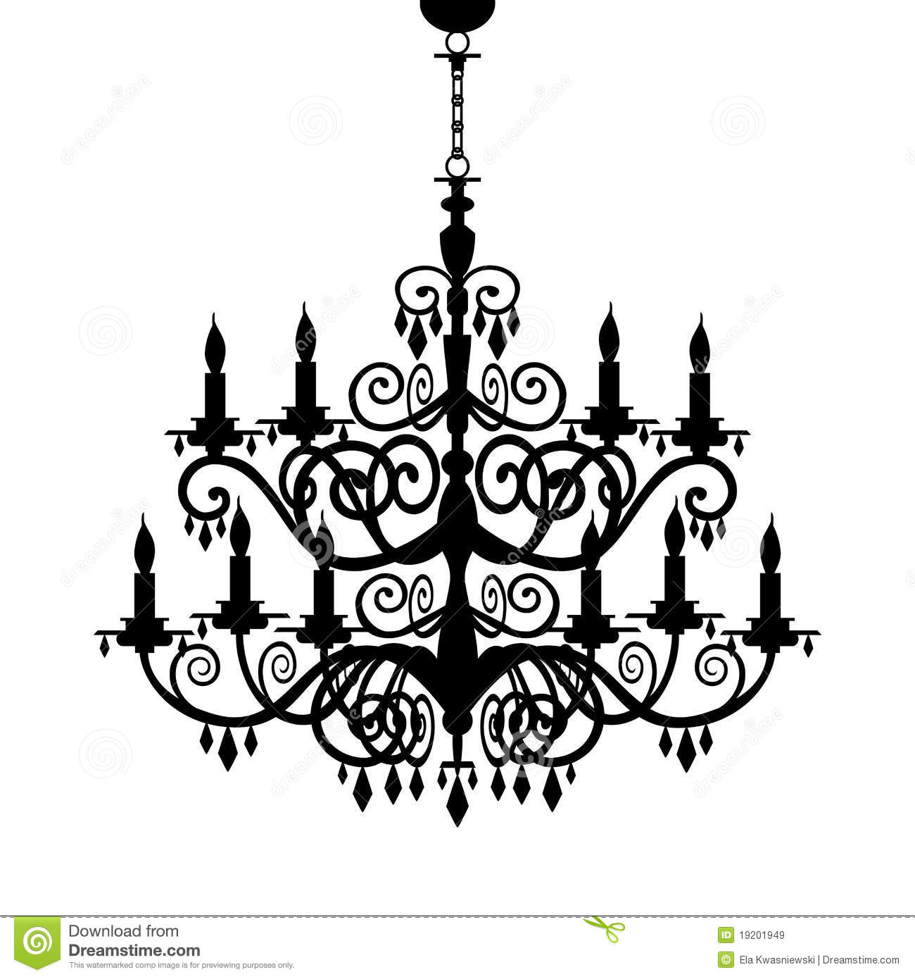 Chandelier transparent clipart clipart suggest for Lustre baroque noir