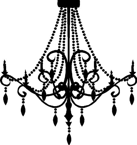 Black Chandelier Clip Art   Free Graphic Chandelier   Chandelier