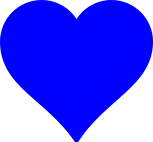 Blue Heart Clip Art  Png And Svg