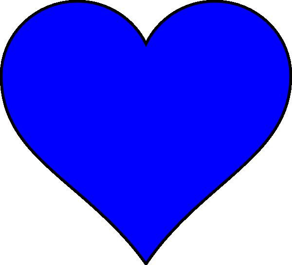 Clip Art Heart Shape Clipart heart shape clipart kid blue clip art at clker com vector online