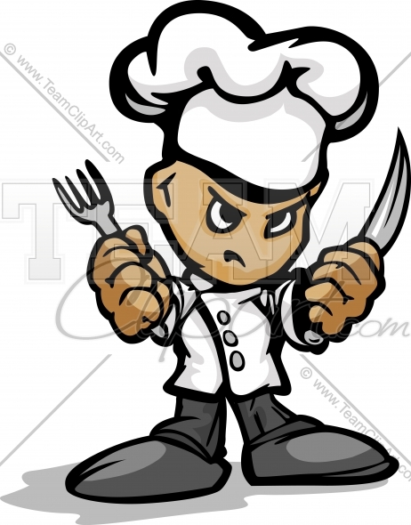 Chef Knife Clip Art Cartoon Kitchen Chef With Hat