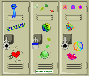 Clip Art Illustration Of School Lockers For Students